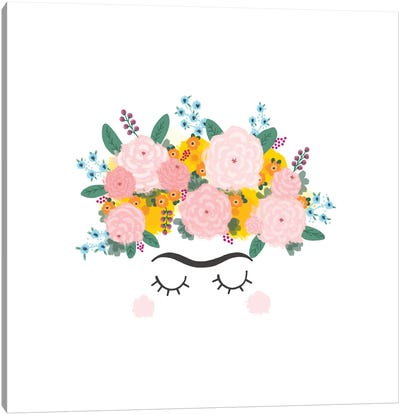 Frida Flowers Canvas Art Print