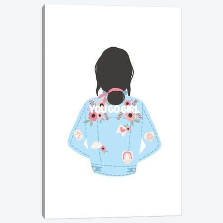 You Go Girl Jean Jacket Canvas Print #BAU62} by The Beau Studio Canvas Art Print