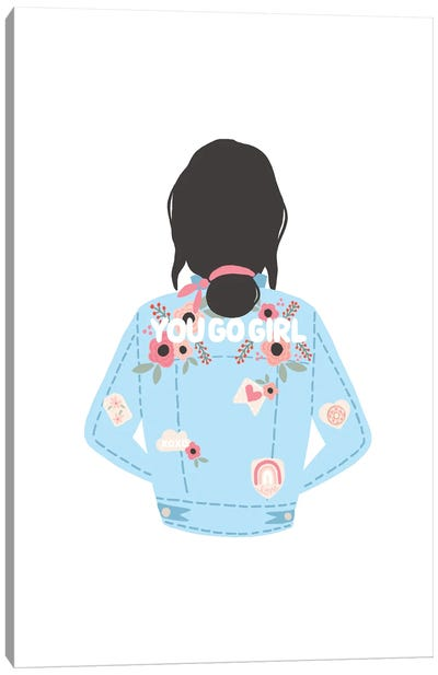You Go Girl Jean Jacket Canvas Art Print