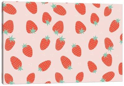 Strawberry Pattern Canvas Art Print