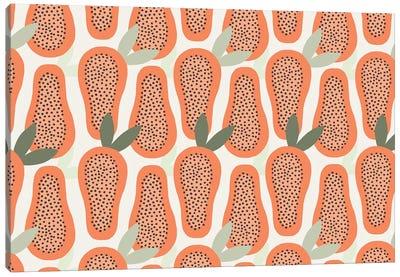 Papaya Pattern Canvas Art Print
