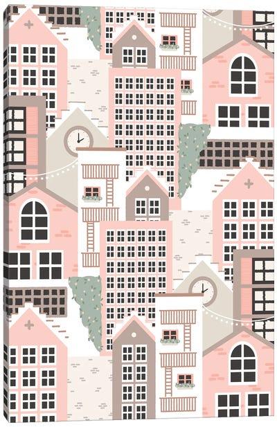 Pastel Town Canvas Art Print