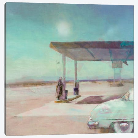 Gas Stop Canvas Print #BAY14} by Noah Bay Canvas Print