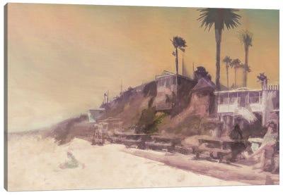 Girl on the Beach Canvas Art Print