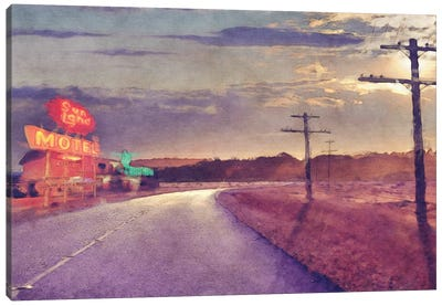 Last Motel Canvas Art Print