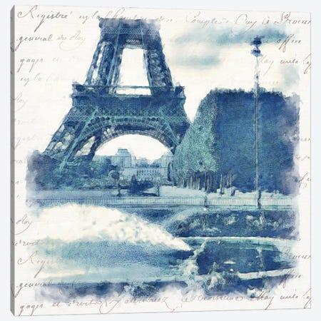 Paris in Blue I Canvas Print #BAY28} by Noah Bay Canvas Art Print
