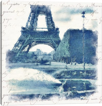 Paris in Blue I Canvas Art Print