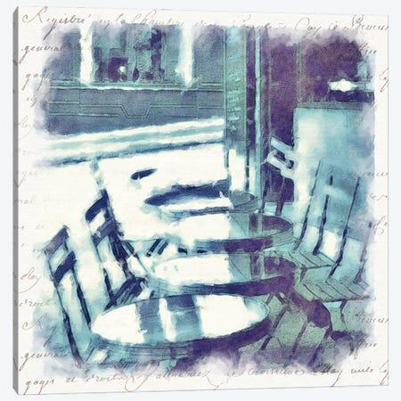 Paris in Blue III Canvas Print #BAY30} by Noah Bay Canvas Wall Art