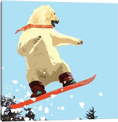 Polar Bear Jump Canvas Art Print
