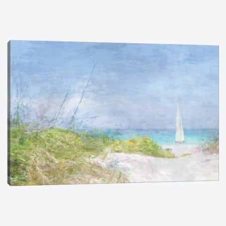 Solitary Yacht Canvas Print #BAY36} by Noah Bay Canvas Art Print