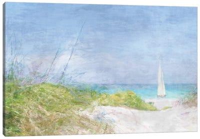 Solitary Yacht Canvas Art Print