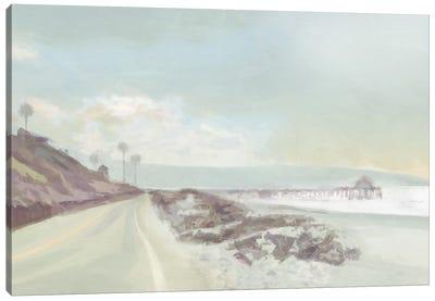 Towards the Pier Canvas Art Print