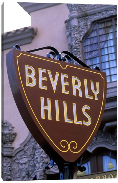Beverly Hills Street Sign, Los Angeles County, California, USA Canvas Art Print