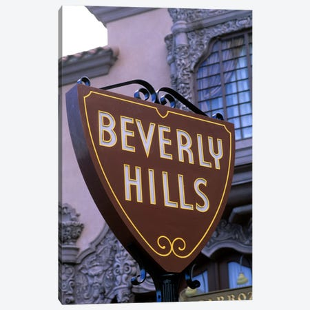 Beverly Hills Street Sign, Los Angeles County, California, USA 3-Piece Canvas #BBA2} by Bill Bachmann Canvas Art Print