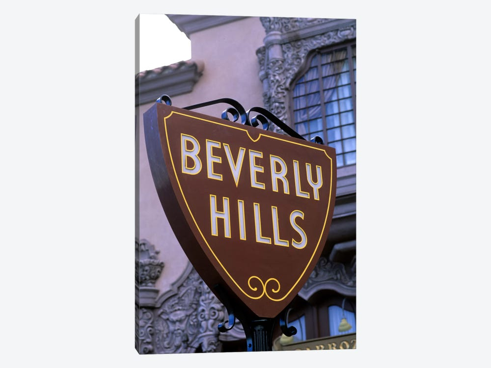 Beverly Hills Street Sign, Los Angeles County, California, USA by Bill Bachmann 1-piece Art Print