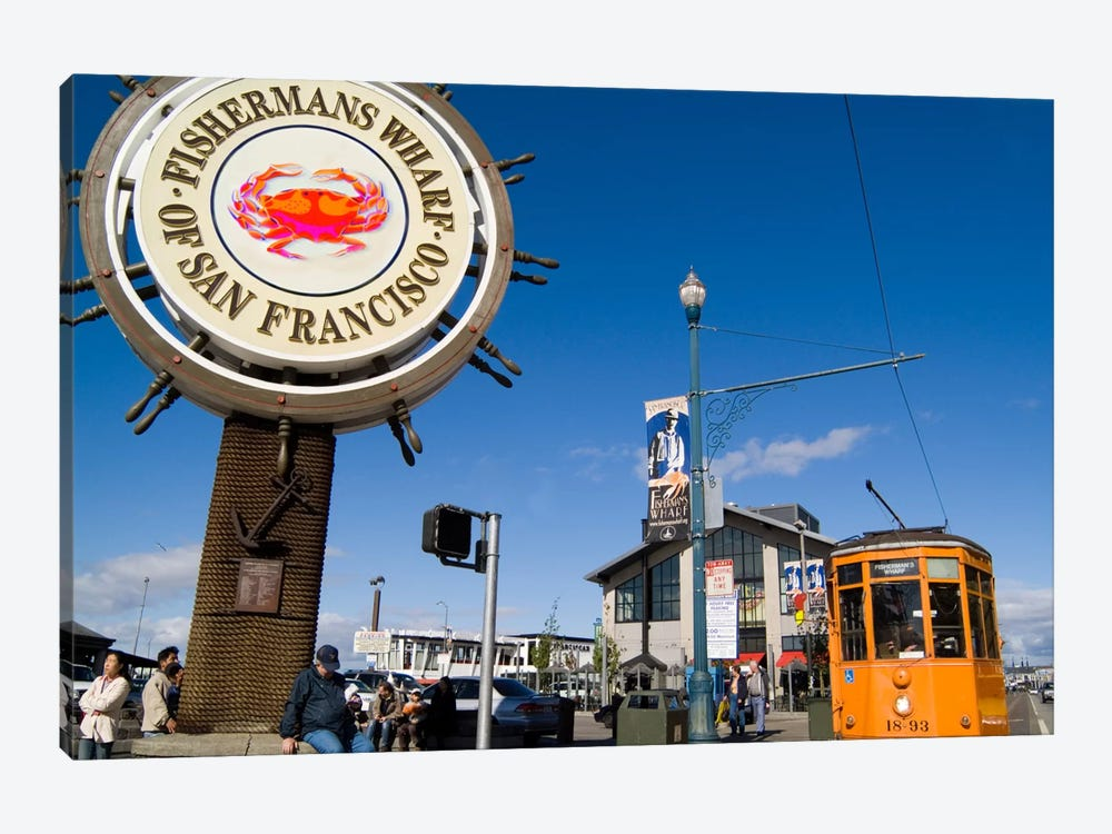 Fisherman's Wharf, San Francisco, California, USA by Bill Bachmann 1-piece Canvas Art Print