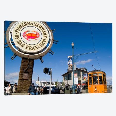 Fisherman's Wharf, San Francisco, California, USA 3-Piece Canvas #BBA4} by Bill Bachmann Canvas Wall Art