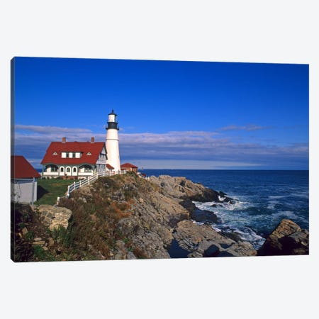 Portland Head Light I, Cape Elizabeth, Cumberland County, Maine, USA Canvas Print #BBA5} by Bill Bachmann Canvas Art