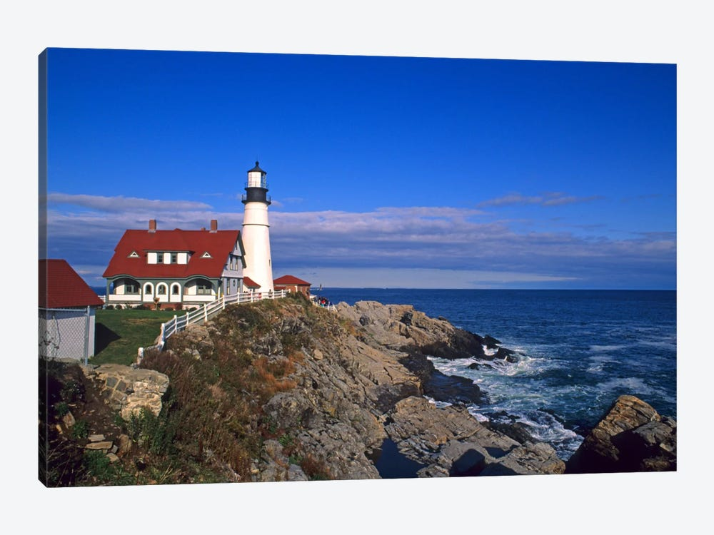 Portland Head Light I, Cape Elizabeth, Cumberland County, Maine, USA by Bill Bachmann 1-piece Canvas Art
