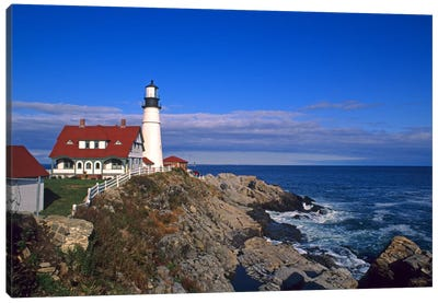 Portland Head Light I, Cape Elizabeth, Cumberland County, Maine, USA Canvas Art Print