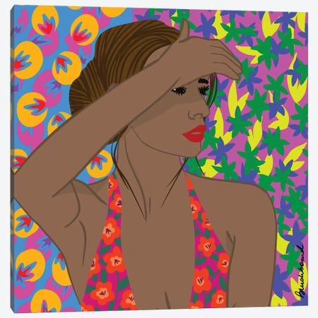 Sun Girl Canvas Print #BBD14} by BrushBound Canvas Artwork