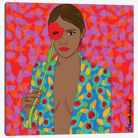 Flower Girl Canvas Print #BBD30} by BrushBound Art Print