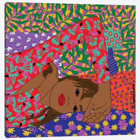 Love Girl Canvas Print #BBD32} by BrushBound Art Print
