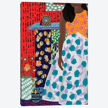 Home Girl Canvas Print #BBD6} by BrushBound Canvas Print