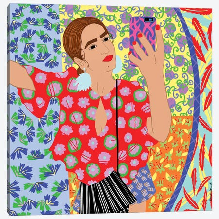 Keerti Girl Canvas Print #BBD7} by BrushBound Art Print