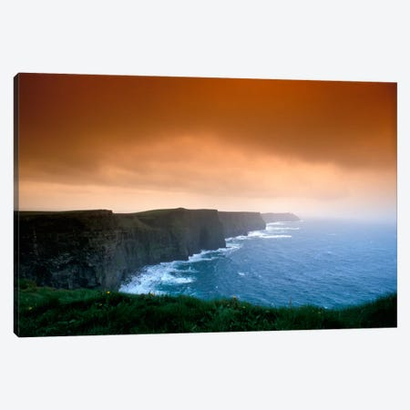 Cliffs Of Moher, County Clare, Munster Province, Republic Of Ireland Canvas Print #BBE1} by Brent Bergherm Canvas Art Print