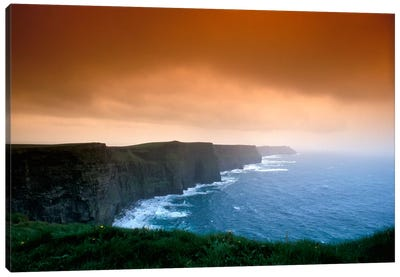 Cliffs Of Moher, County Clare, Munster Province, Republic Of Ireland Canvas Art Print