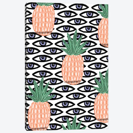 Pineapple And Eyes Canvas Print #BBH106} by Bouffants & Broken Hearts Canvas Print