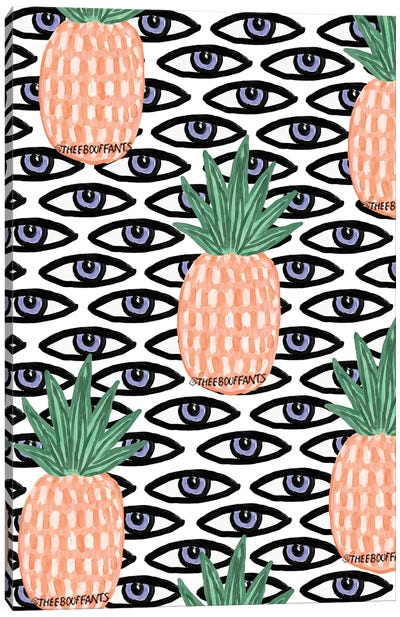 Pineapple And Eyes Canvas Art Print