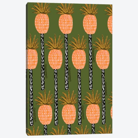 Pineapple Trees Canvas Print #BBH108} by Bouffants & Broken Hearts Canvas Art