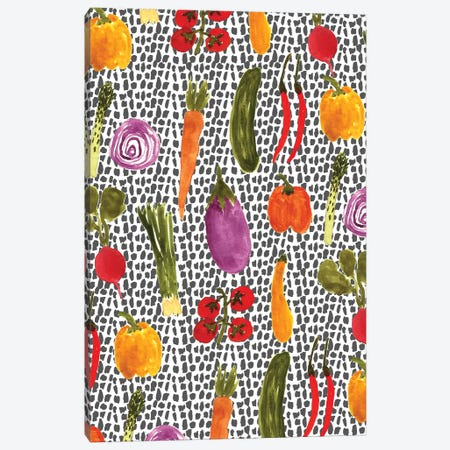 Vegetables Canvas Print #BBH122} by Bouffants & Broken Hearts Canvas Artwork