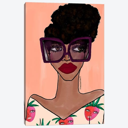 Fashion Girl III Canvas Print #BBH135} by Bouffants & Broken Hearts Canvas Artwork