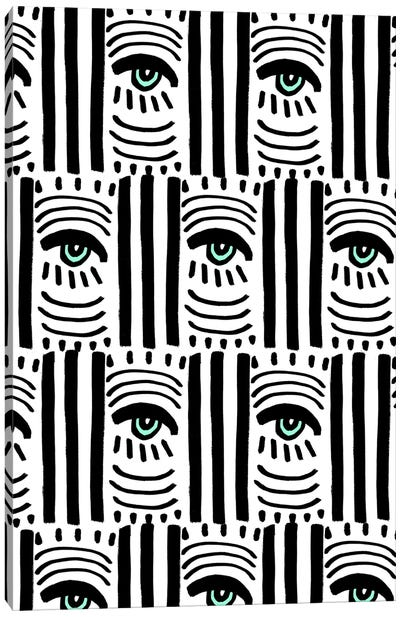 Graphic Eyes II Canvas Art Print