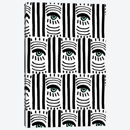 Graphic Eyes II Canvas Print #BBH138} by Bouffants & Broken Hearts Art Print