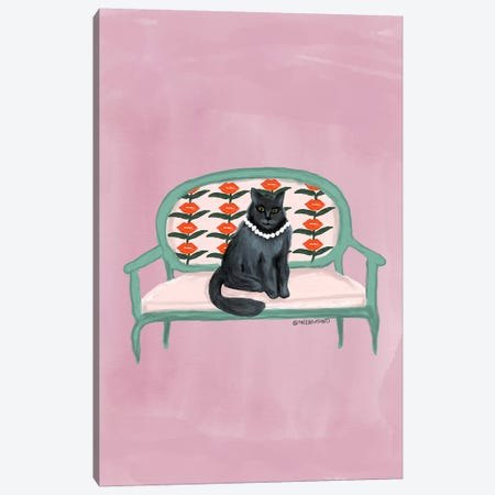 Meow Canvas Print #BBH140} by Bouffants & Broken Hearts Canvas Artwork