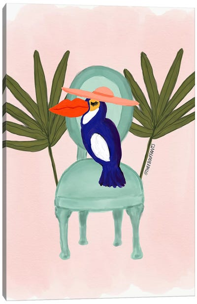 Toucan In A Chair Canvas Art Print
