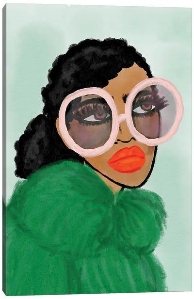 Green Coat Canvas Art Print