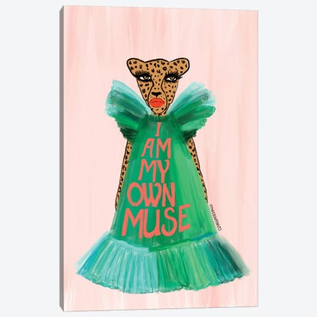 I Am My Own Muse Canvas Print #BBH148} by Bouffants & Broken Hearts Canvas Wall Art
