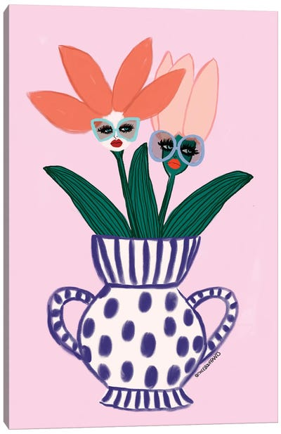 Sassy Flowers Canvas Art Print
