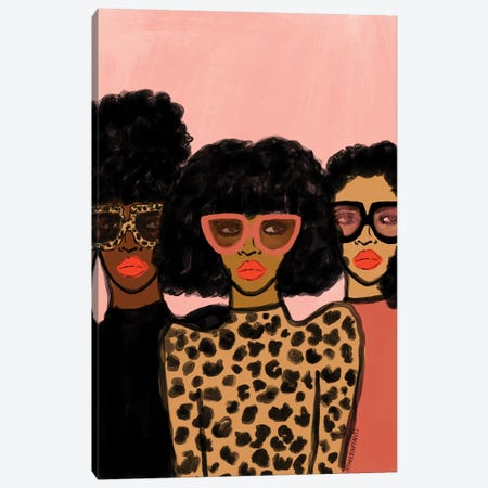Shade Squad Canvas Print #BBH153} by Bouffants & Broken Hearts Art Print