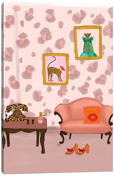 Cheetah Room Canvas Art Print