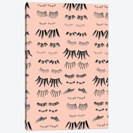 All The Lashes Canvas Print #BBH15} by Bouffants & Broken Hearts Canvas Artwork