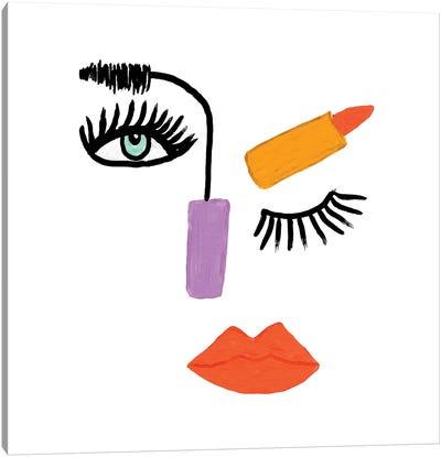 Abstract Make-Up Face Canvas Art Print