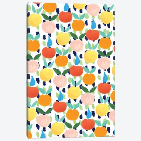 Colorful Citrus Canvas Print #BBH16} by Bouffants & Broken Hearts Canvas Art