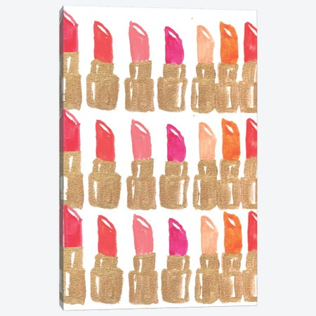 Lipstick III Canvas Print #BBH17} by Bouffants & Broken Hearts Canvas Artwork