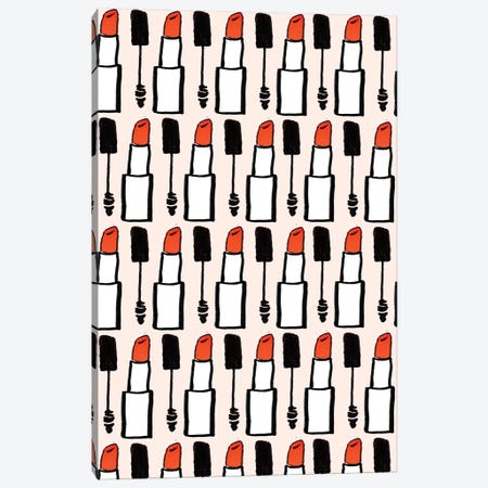 Lipstick And Mascara Canvas Print #BBH18} by Bouffants & Broken Hearts Canvas Print